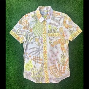Mr Turk Floral Button Front Half Sleeve Shirt LRG